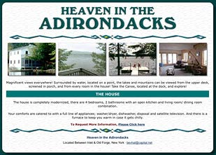 Adirondack Lodging Heaven in the Adirondacks